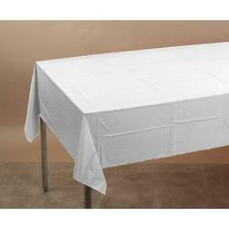 """White Tissue/Poly Tablecover 54"""" x 108"""" Solid 6ct"""