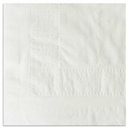 White - Color 2 Ply Tissue 1Ply Poly Tablecover, 54 x 108 in