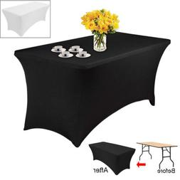 Wholesale Stretch Fitted Spandex Rectangular Tablecloth 6Ft