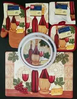The Pecan Man Wine & Cheese Theme Everyday Decor Kitchen Set