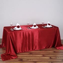 wine rectangle satin tablecloth table