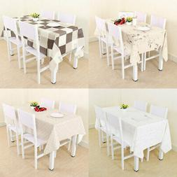 Wipe Clean Oil-resistant Water-resistant PVC Tablecloth Tabl