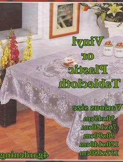 WIPE CLEAN PVC Vinyl OR Plastic Tablecloth Dining Kitchen Ta