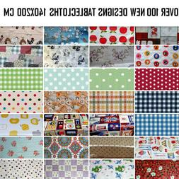 WIPEABLE TABLECLOTH  PLASTIC VINYL OILCLOTH TABLE COVER PROT