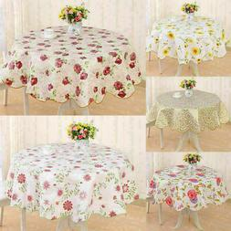 Wipeable Vinyl PVC Floral Tablecloth Dining Kitchen Table Ro