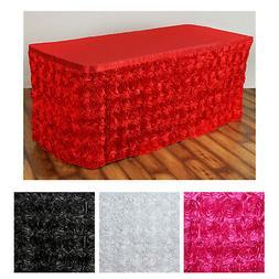Wonderland Rosette Table Skirt Table Covers For Rectangle Or