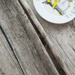 Wood Grain Pattern Table Cloth Cotton Linen Dining Table Cov