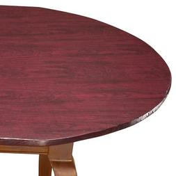 Wood Grain Vinyl Elastic Table Cover with Fleece Backing in