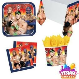 WWE Birthday Party Tableware Napkins Plates Cups Table Cover
