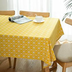 WZS Tablecloths - Nordic Cotton Linen Cover Tablecloth Table