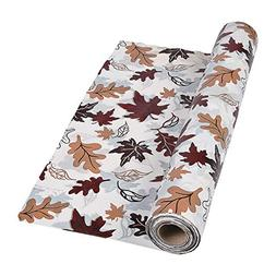 Fun Express - Fall Leaves Tablecloth Roll for Fall - Party S