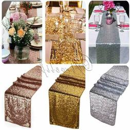 Xmas Table Runner Rose Gold Sequin Christmas Tablecloth Dini