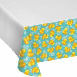 Yellow Ducky Baby Shower Kit Table Cover Plate Napkin Favor