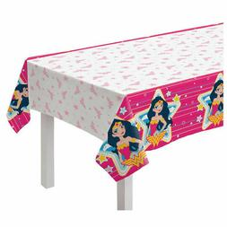 Young DC Wonder Woman Paper Table cover | Girls Birthday Par