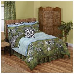 Zebra, Jungle, Safari, African King Comforter & Sheet Set  +