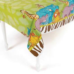 Zoo SAFARI Animal plastic table cover BABY SHOWER birthday P